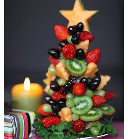 Raw vegan christmas raw vegan recipes enchanting edible christmas tree forumfinder Image collections