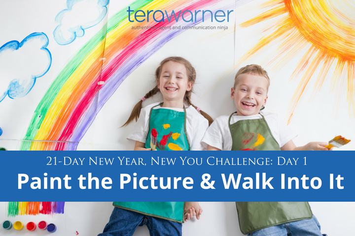 new year's resolutions, 21-day challenge, new year, dreams, goals, paint the picture