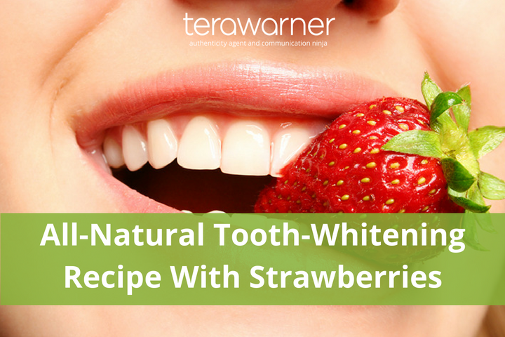 whiten teeth naturally with strawberries, natural tooth whitener, natural beauty recipes,