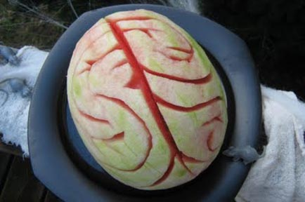 Raw Vegan Recipes: Halloween Watermelon Brain Recipe