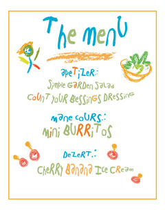 Children's Raw Menu