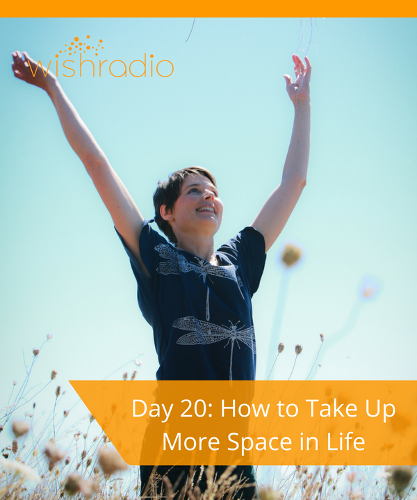 Tera Warner, new year's challenge, take up space, communication