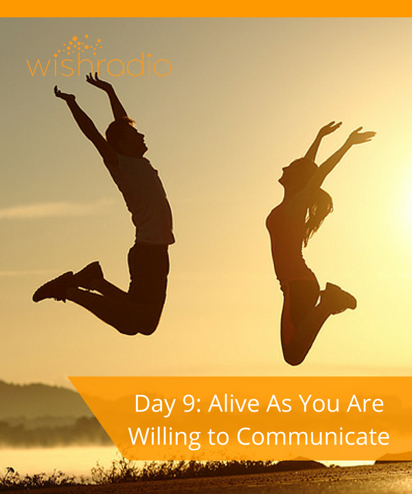 new year's challenge, Day 9, communicate, confidence, courage